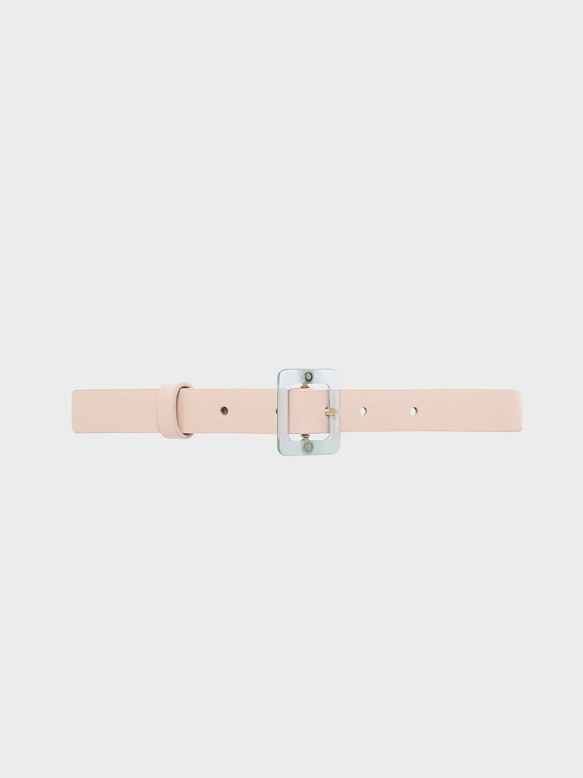 Oversized Acrylic Buckle Belt, Pink, hi-res