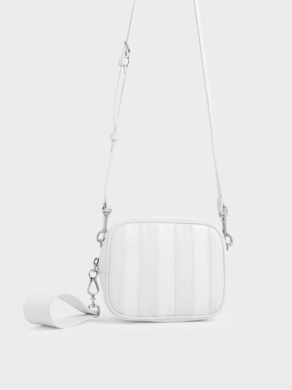 Leather Mini Crossbody Bag, White