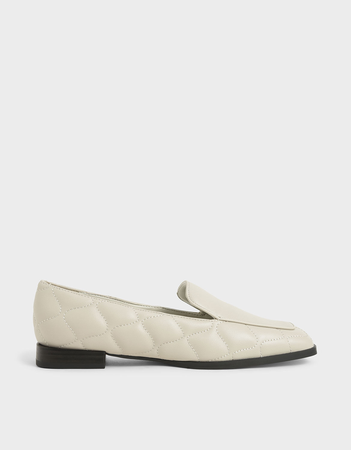 Chalk Quilted Leather Loafers | CHARLES
