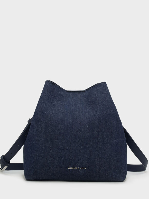 Slouchy Sling Bag, Navy, hi-res