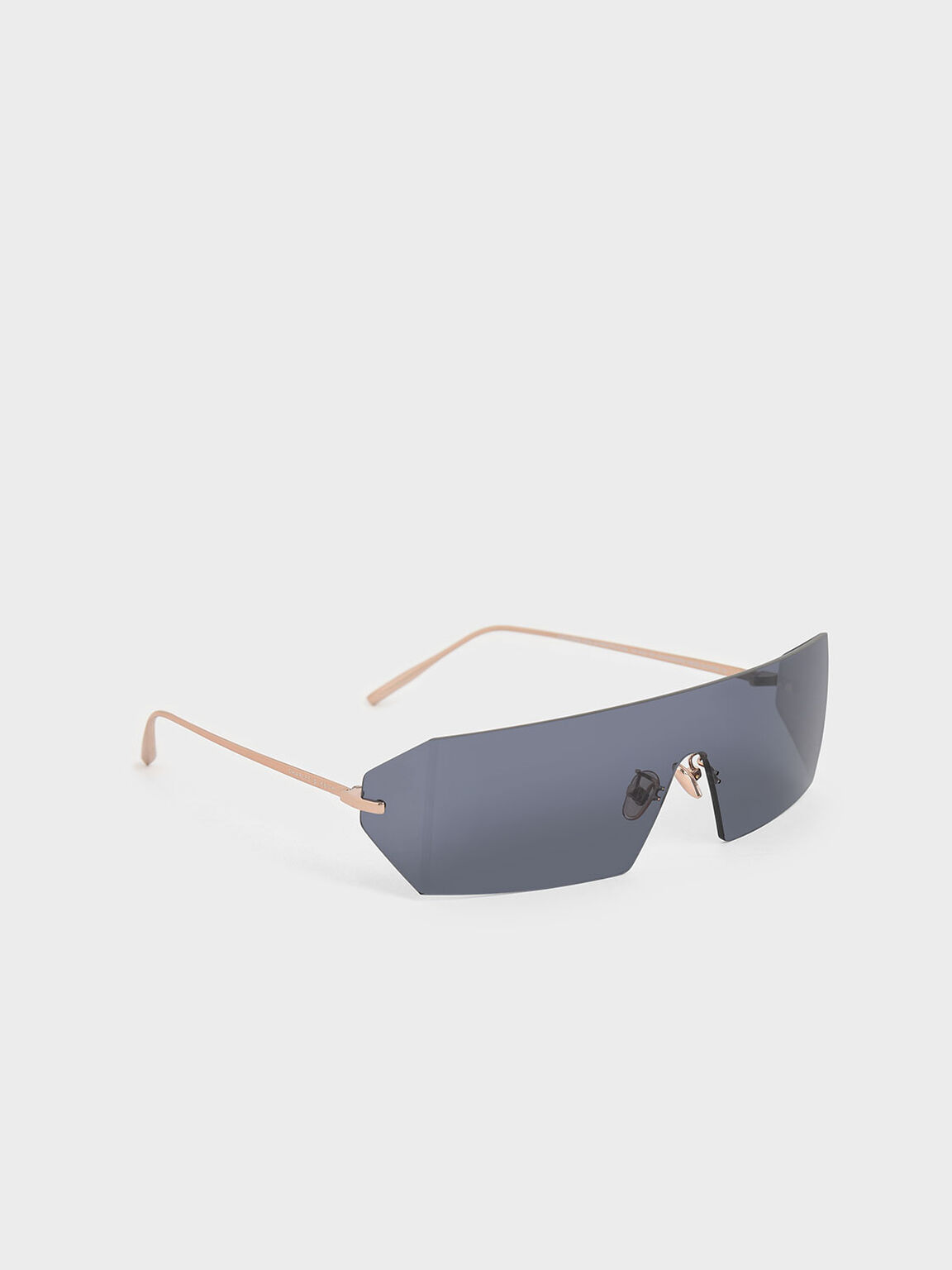 Rectangular Shield Sunglasses, Blue, hi-res