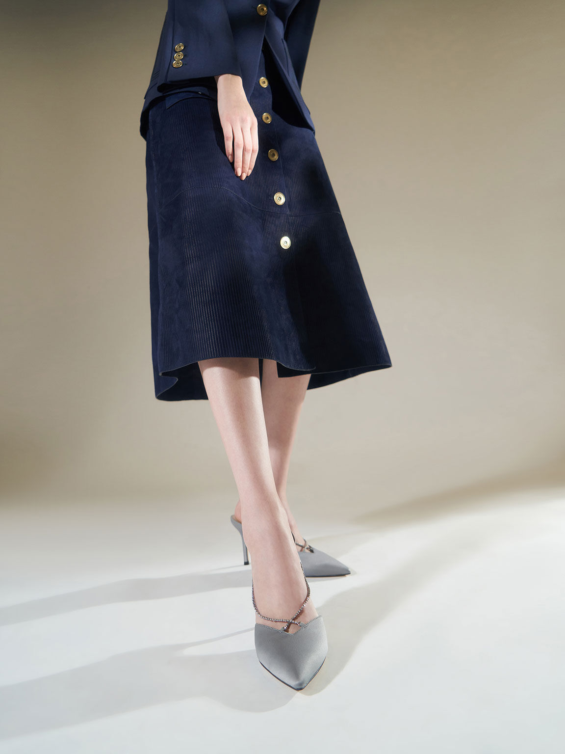 寶石鍊尖頭跟鞋, 淺藍色, hi-res