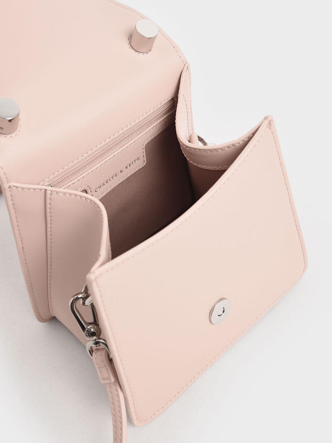 Chunky Chain Handle Mini Bag, Nude, hi-res
