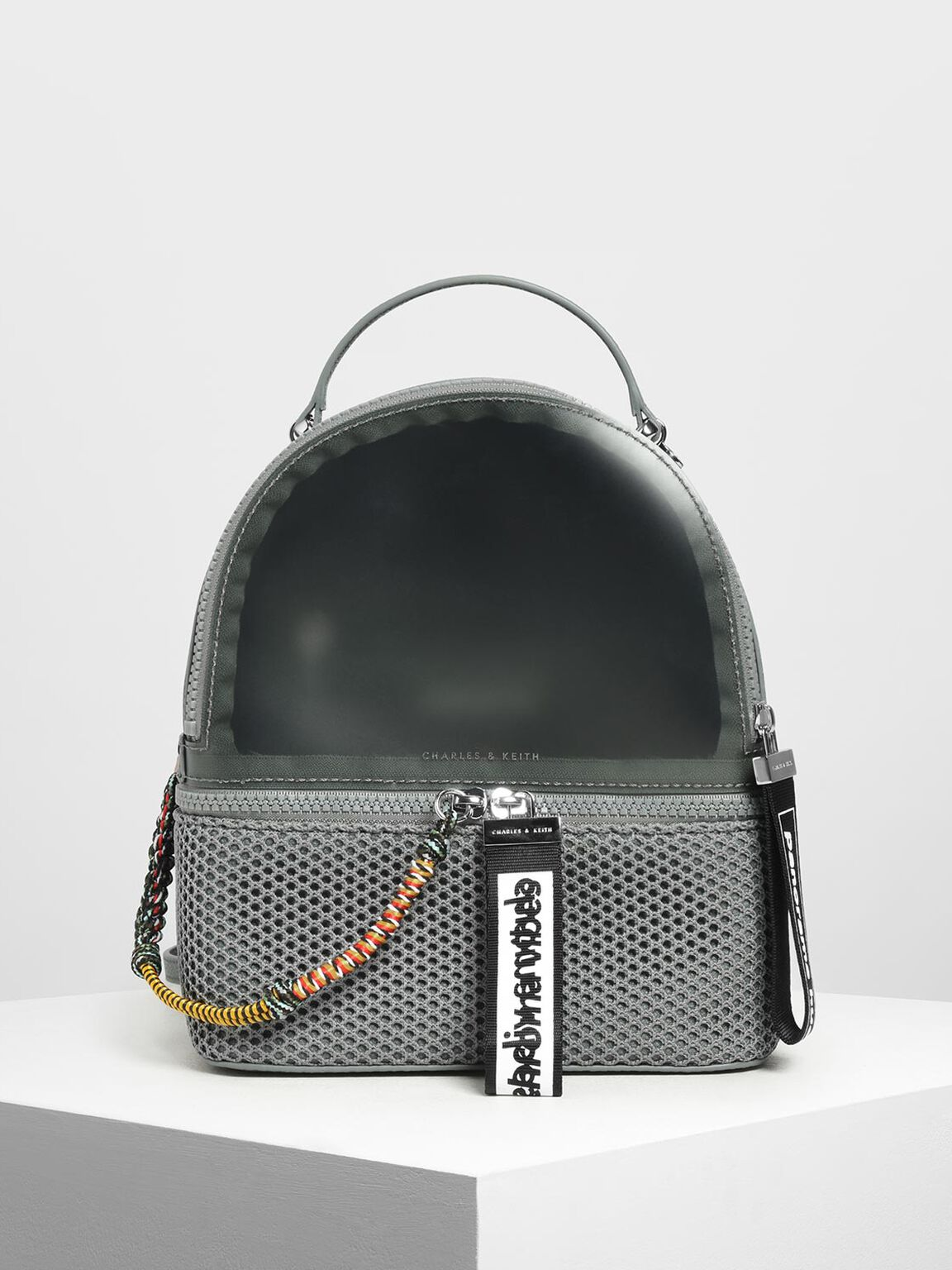 Mesh Detail Backpack, Moss, hi-res