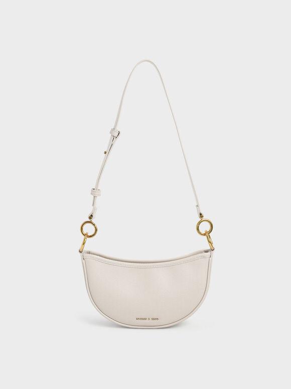 Crescent Crossbody Bag, Ivory, hi-res