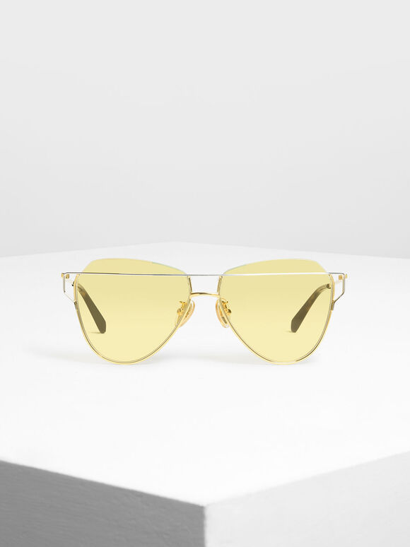 Wire Frame Aviators, Gold, hi-res