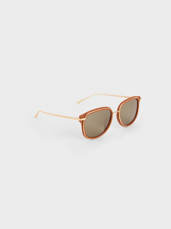 Oval Sunglasses, Clay, hi-res