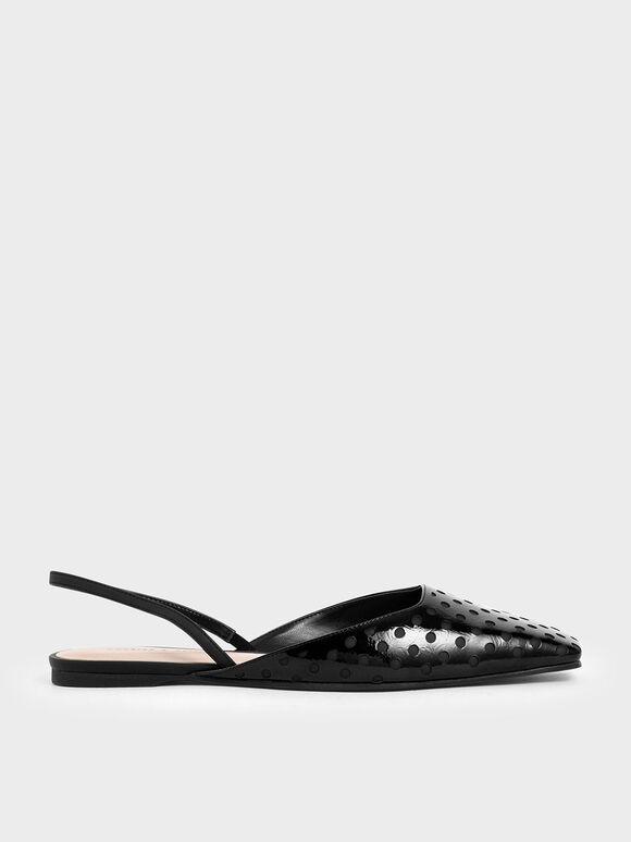 點點平底鞋, 黑色, hi-res