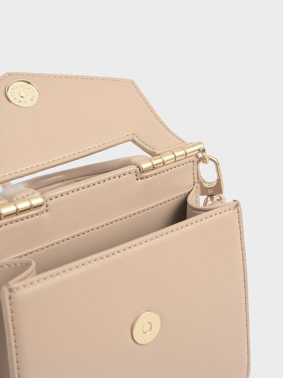 Mini Envelope Bag, Beige