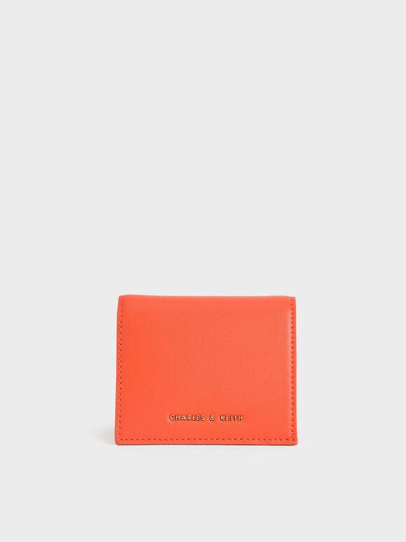 Zip Around Short Wallet, Orange, hi-res