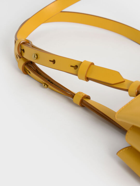 Double Handle Trapeze Tote, Yellow, hi-res