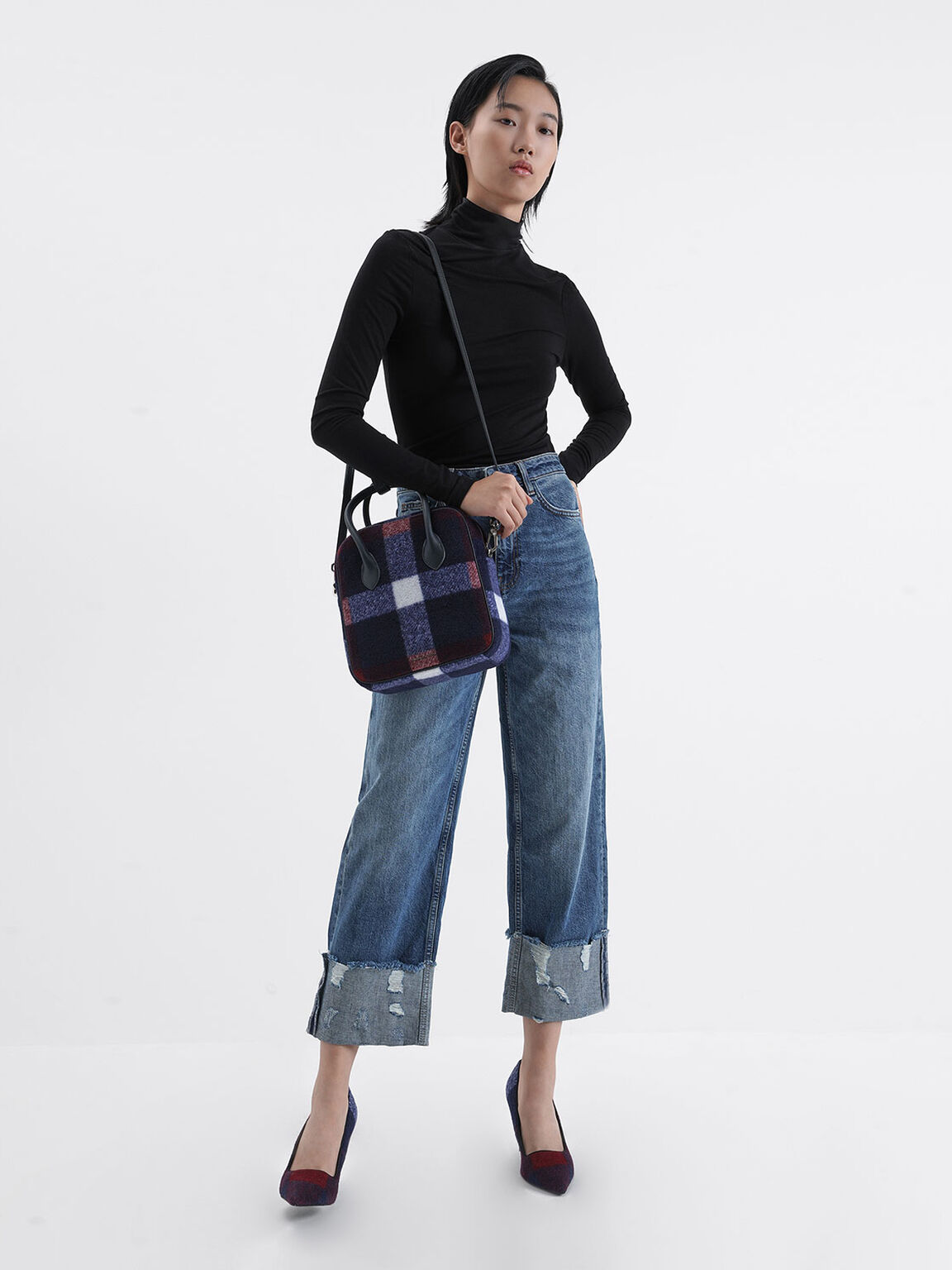 Wool Stiletto Pumps, Blue, hi-res