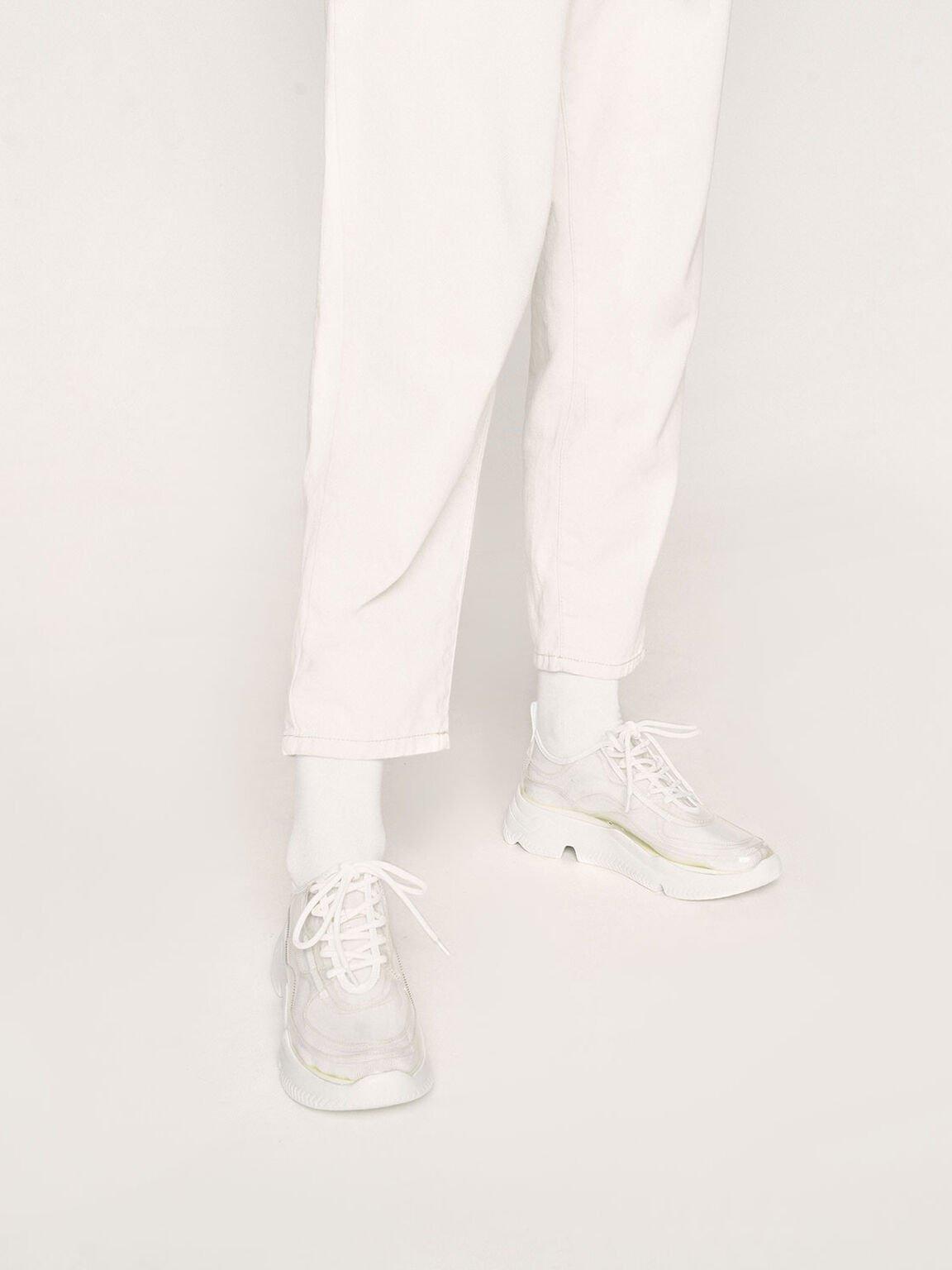 果凍厚底球鞋, 白色, hi-res