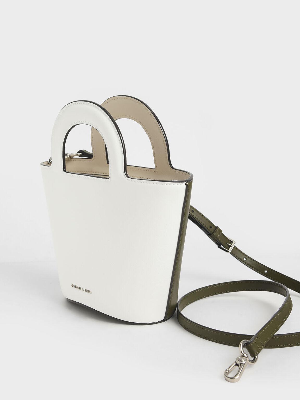 Two-Tone Trapeze Bag, Olive, hi-res