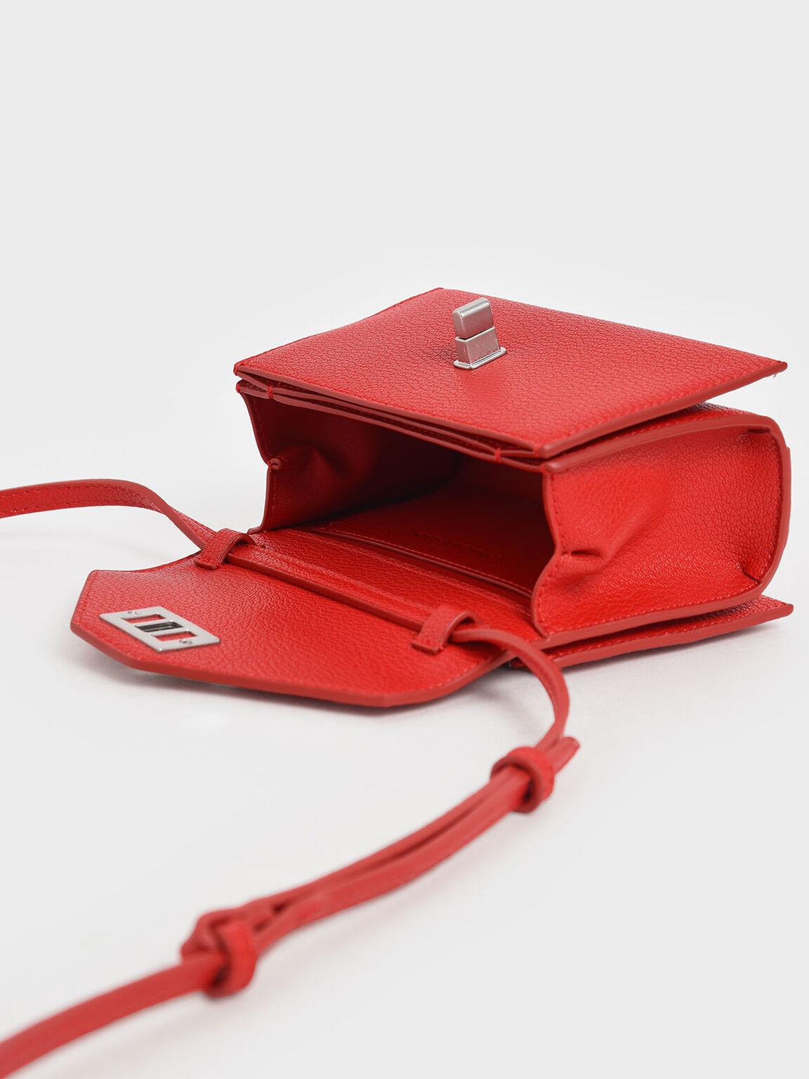 Turn Lock Belt Bag, Red, hi-res