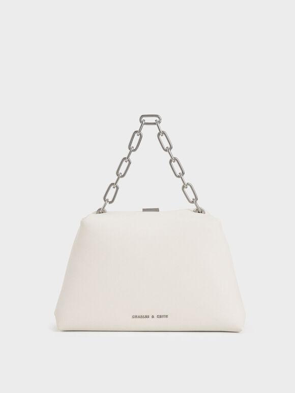 Chain Top Handle Bag, Chalk, hi-res