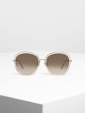 Double Wire Frame Shades, Rose Gold