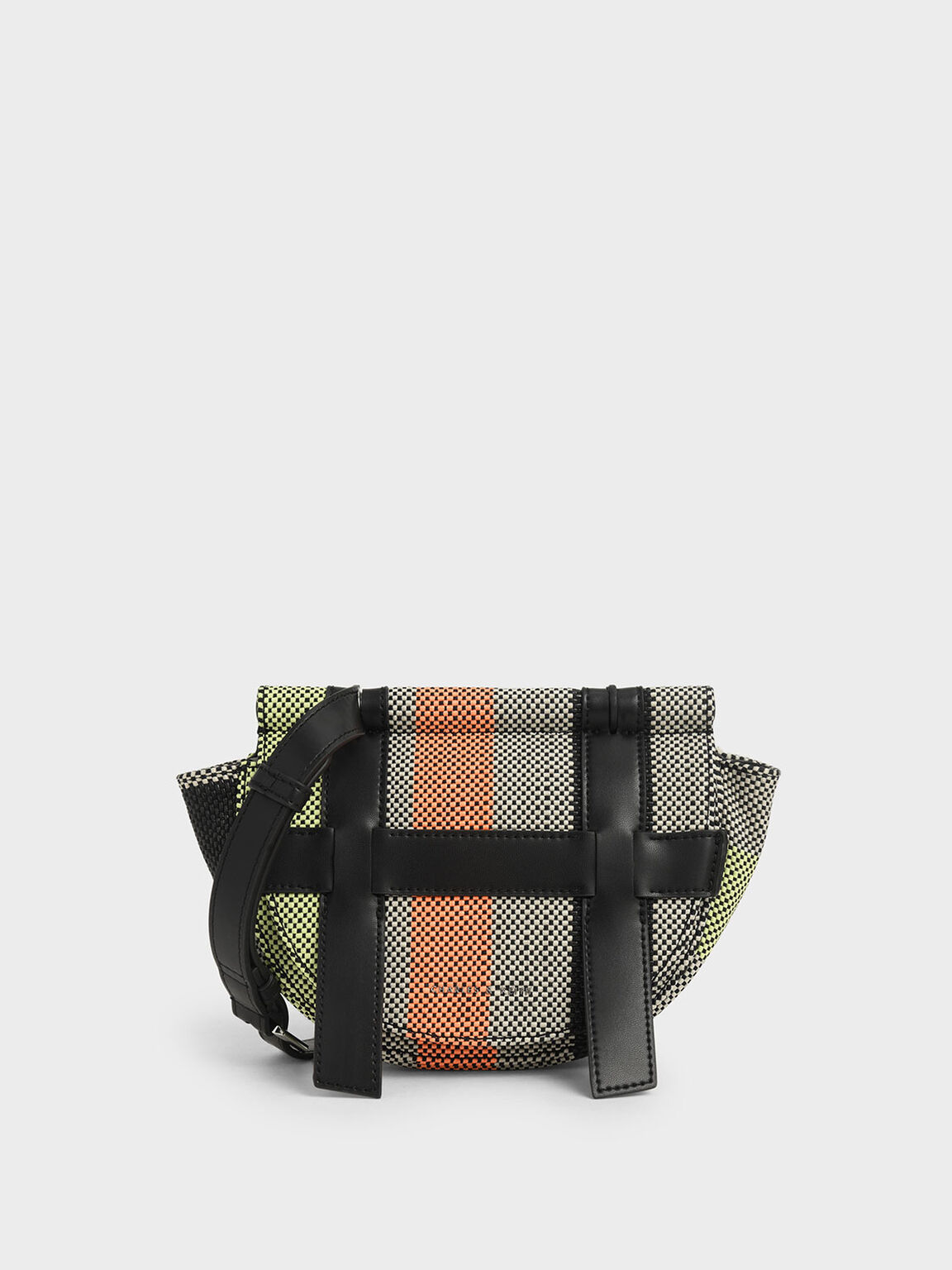 Small Caged Jacquard Crossbody Bag, Multi, hi-res