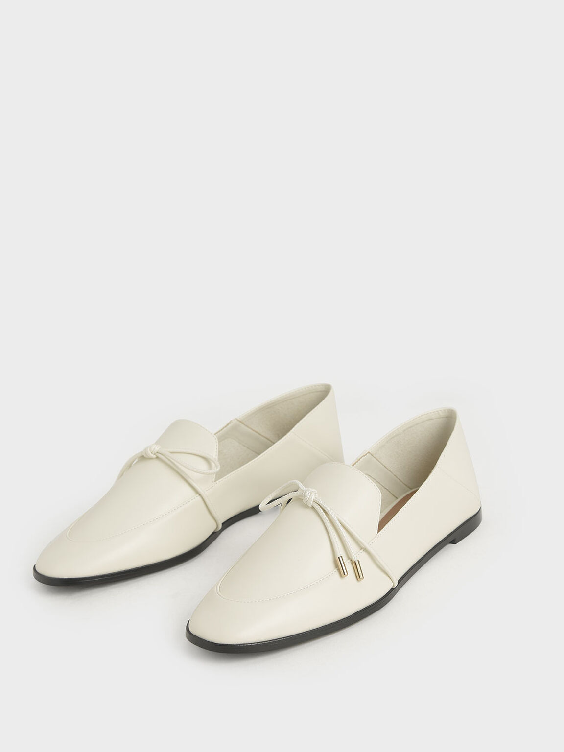 Bow-Tie Loafers, Cream, hi-res