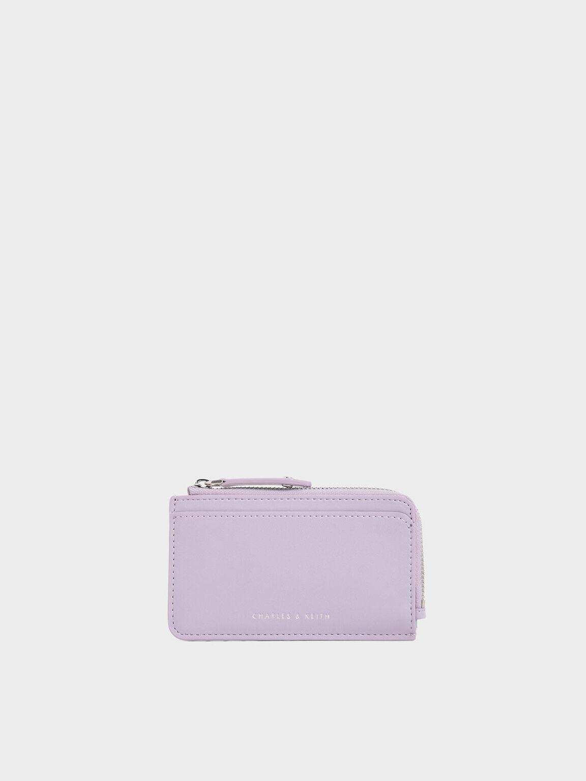 지퍼 어라운드 멀티-슬롯 카드 홀더, Lilac, hi-res