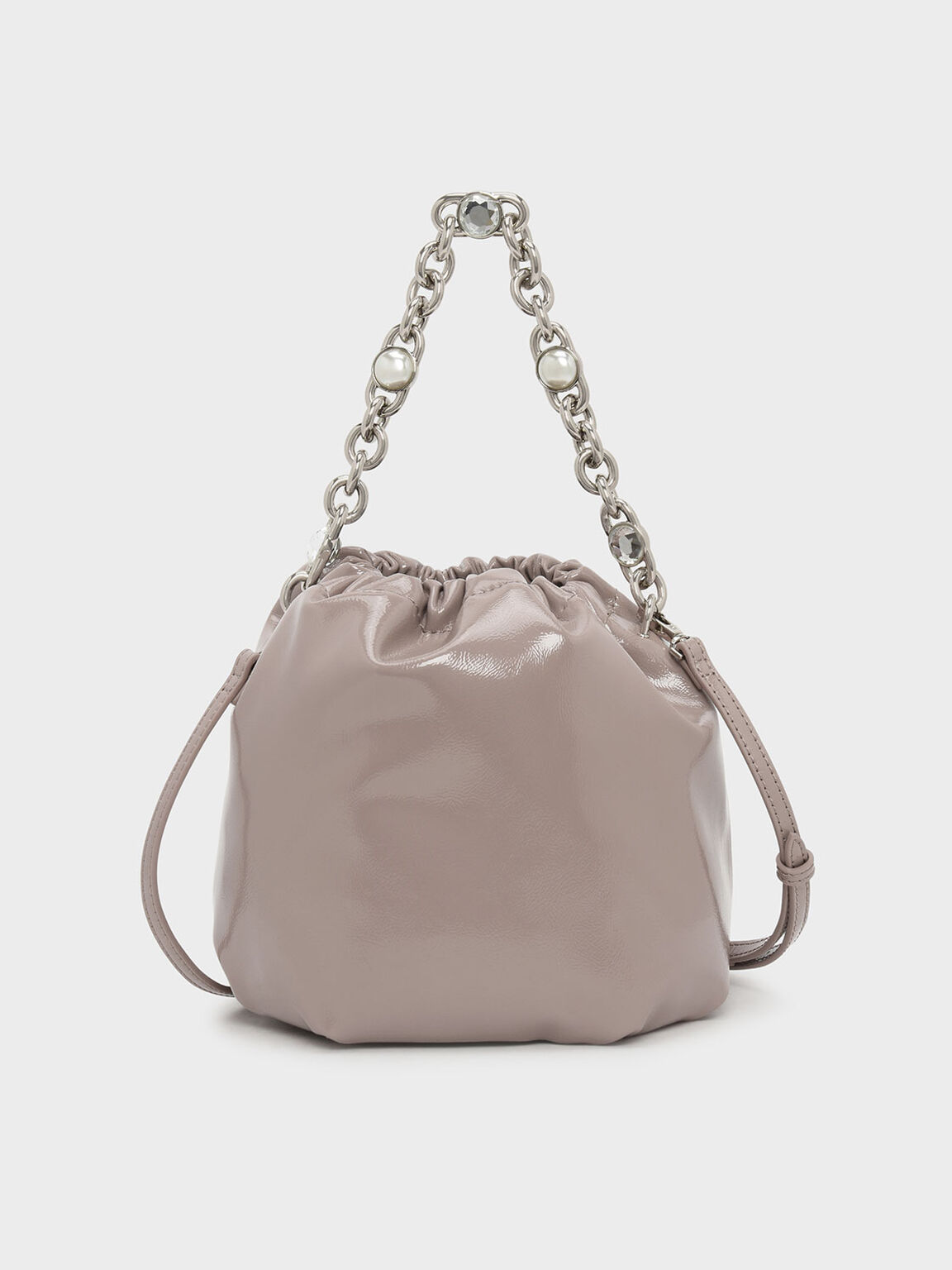 Chain Handle Bucket Bag, Nude, hi-res