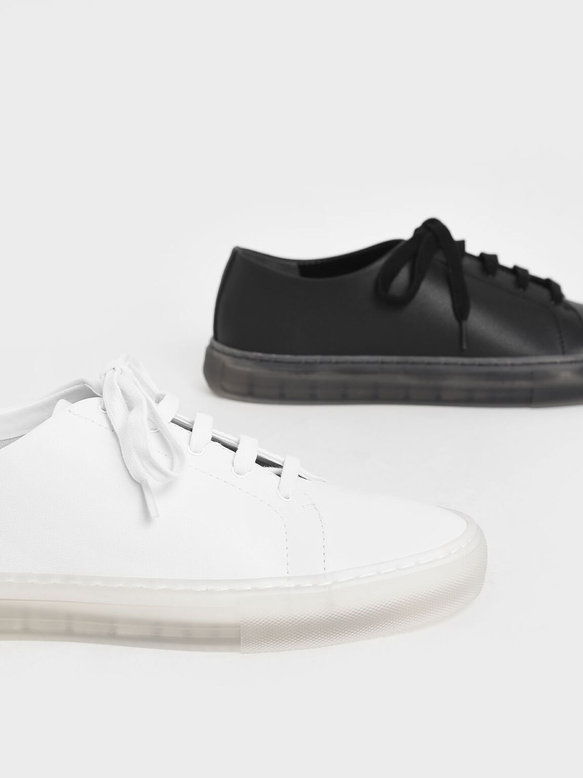 Clear Sole Sneakers, White, hi-res