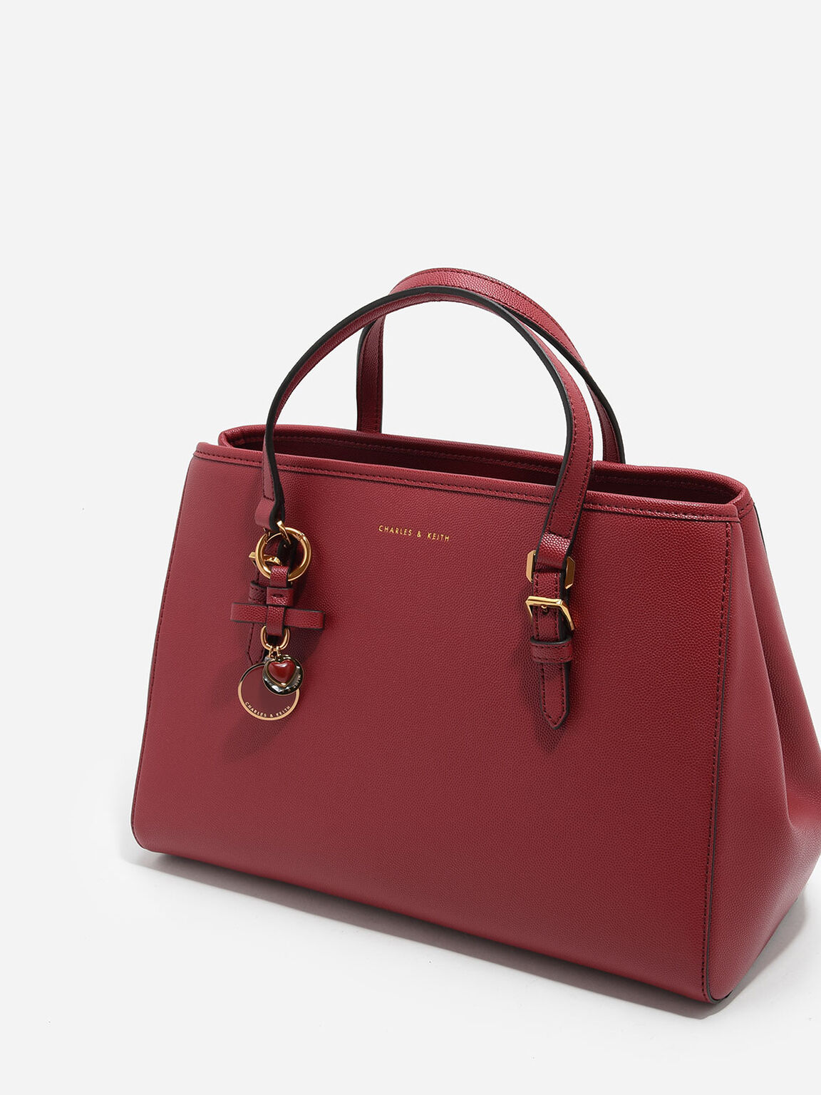 Structured Tote, Red, hi-res