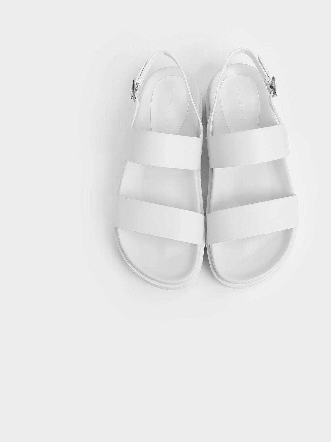 Flatform Sandals, White, hi-res