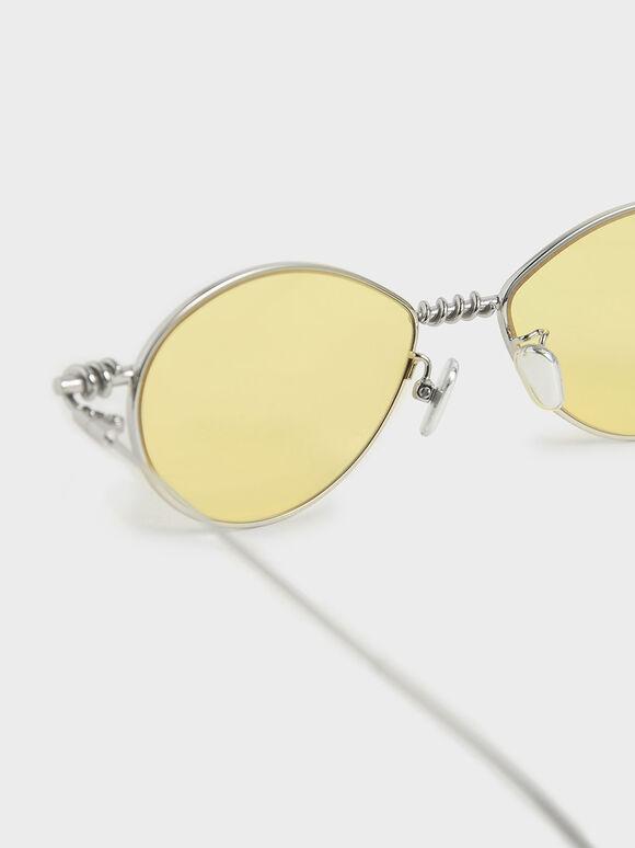 線圈橢圓墨鏡, 黃色, hi-res