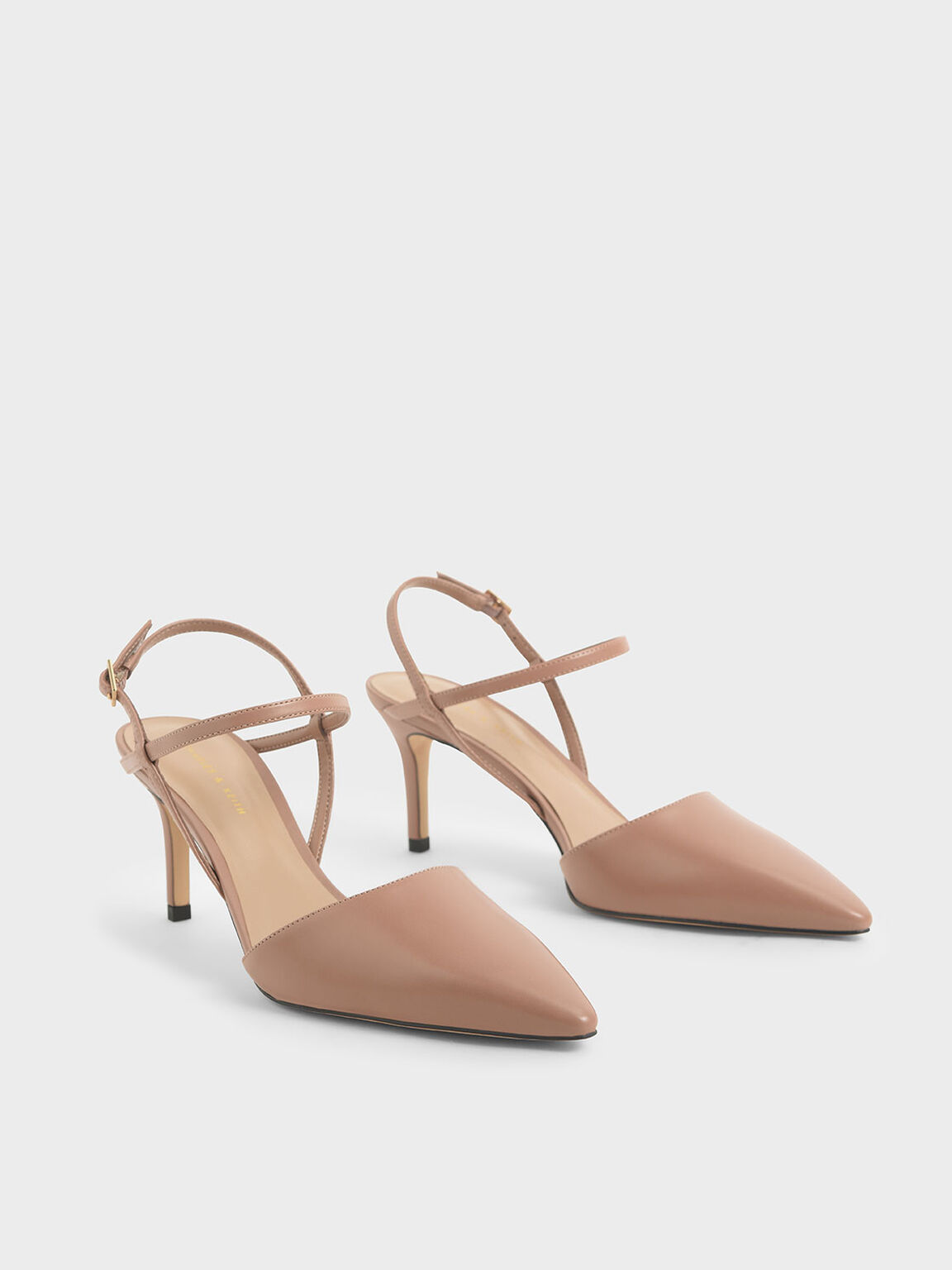 Ankle Strap Stiletto Pumps, Nude, hi-res