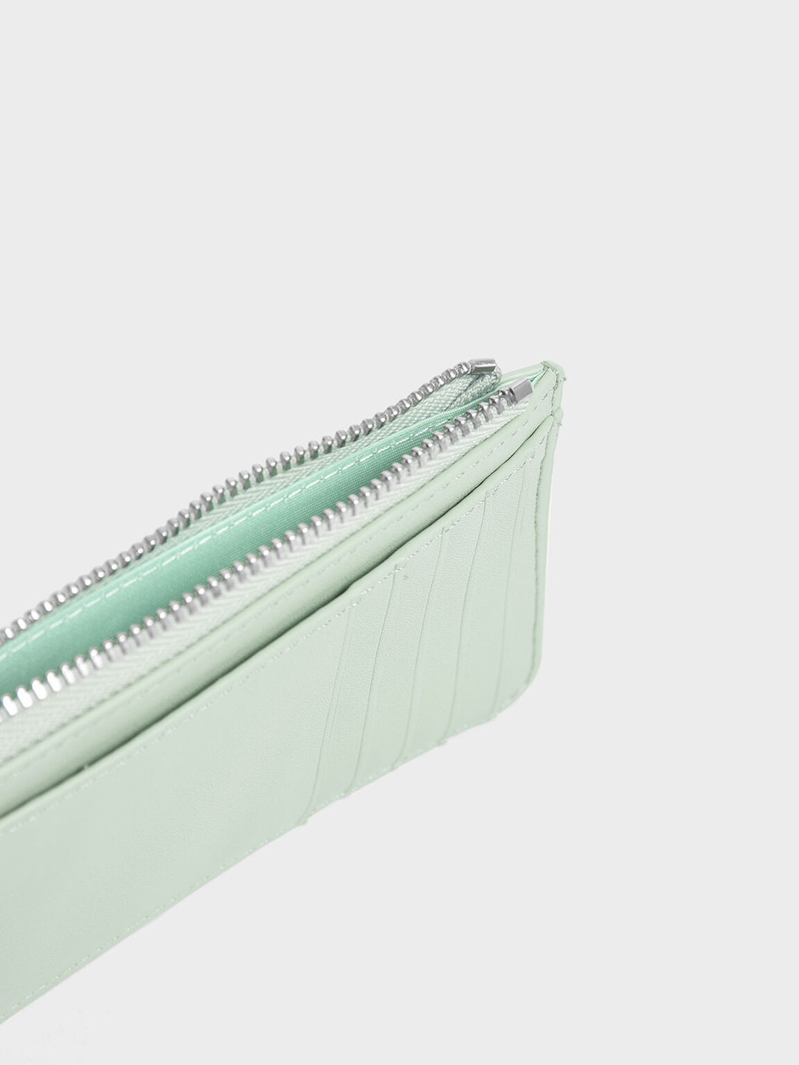 Zip Around Multi-Slot Card Holder, Mint Green, hi-res
