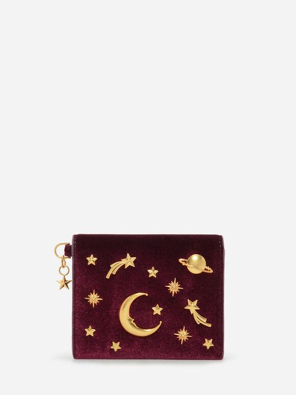 Galaxy Embellished Cardholder, Burgundy, hi-res