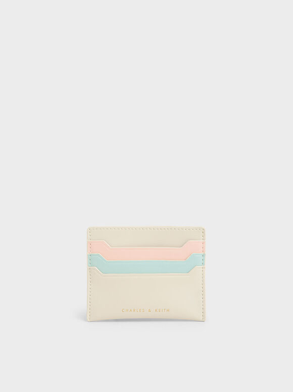 Multi-Slot Card Holder, Cream, hi-res