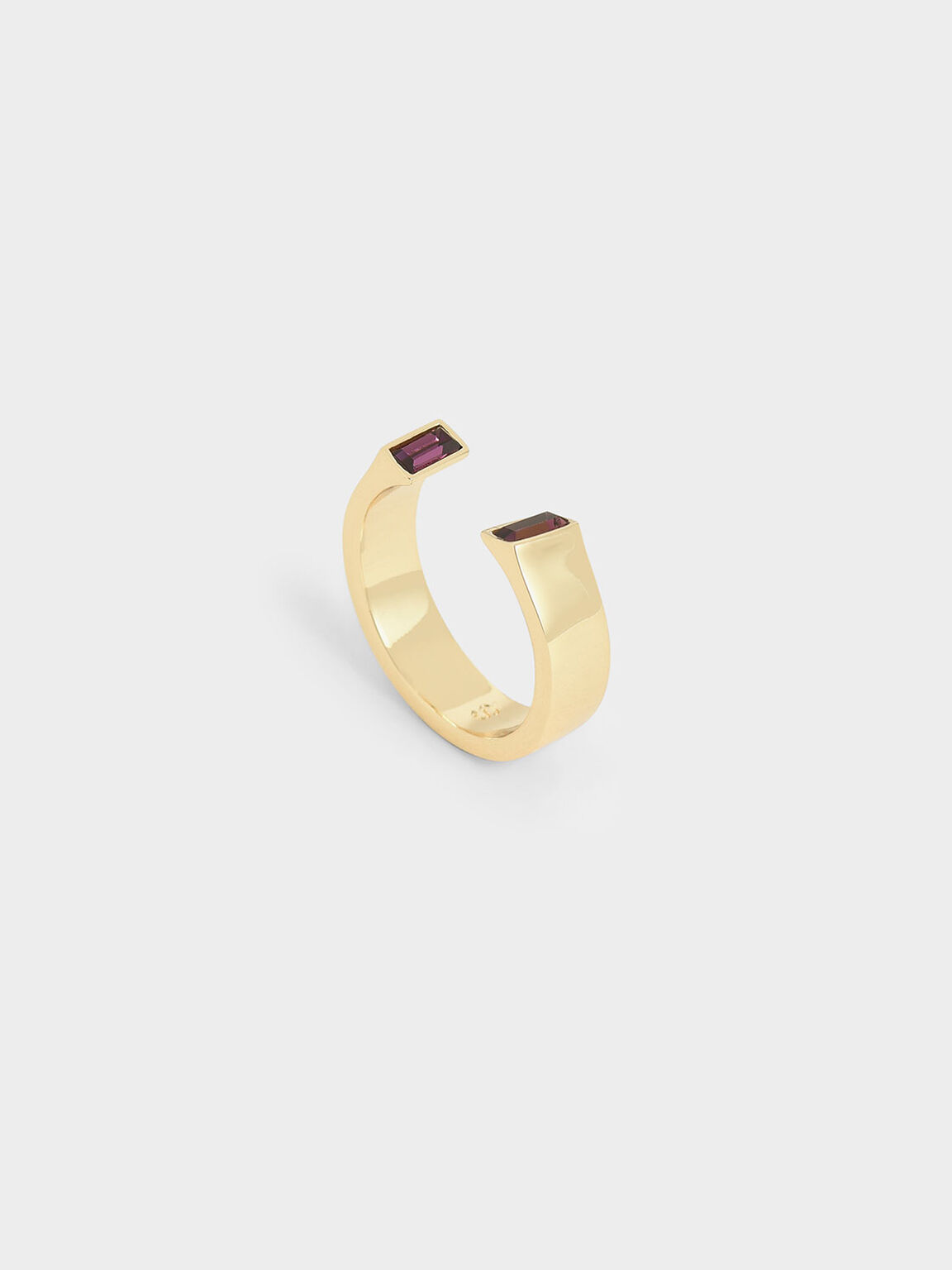 Swarovski® Crystal Open Ring, Gold, hi-res