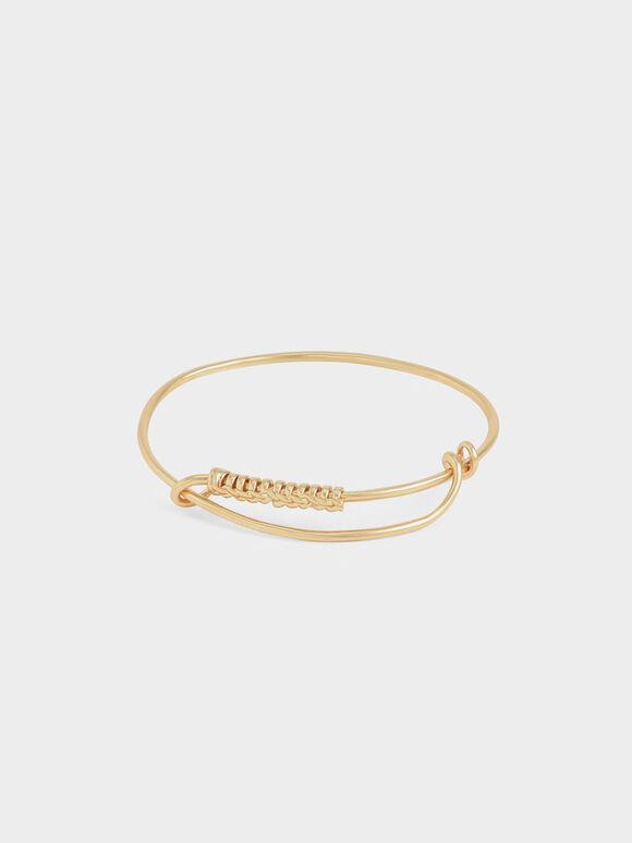 Twist Bangle Bracelet, Brush Gold, hi-res