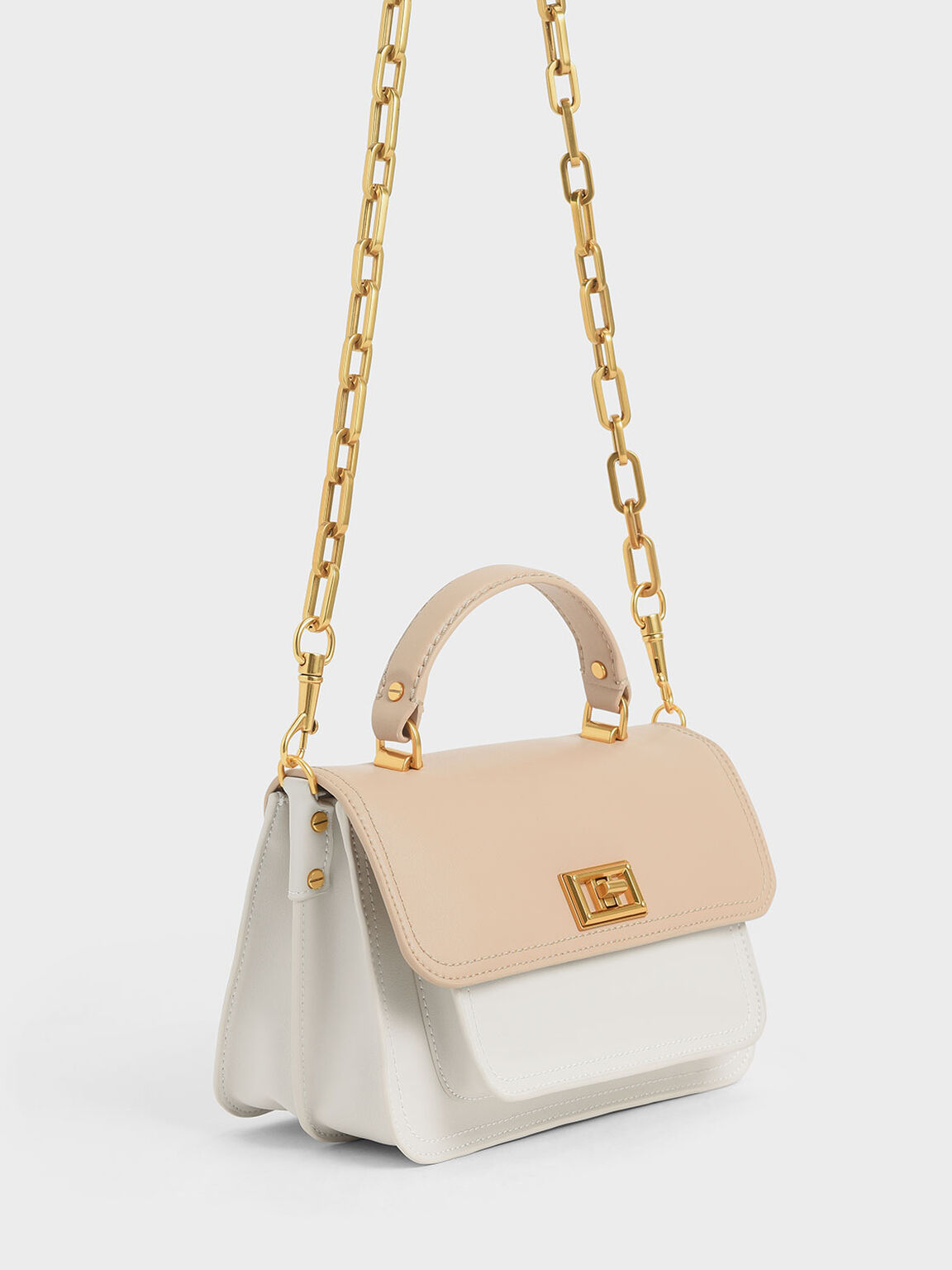Two-Tone Handbag, Multi, hi-res