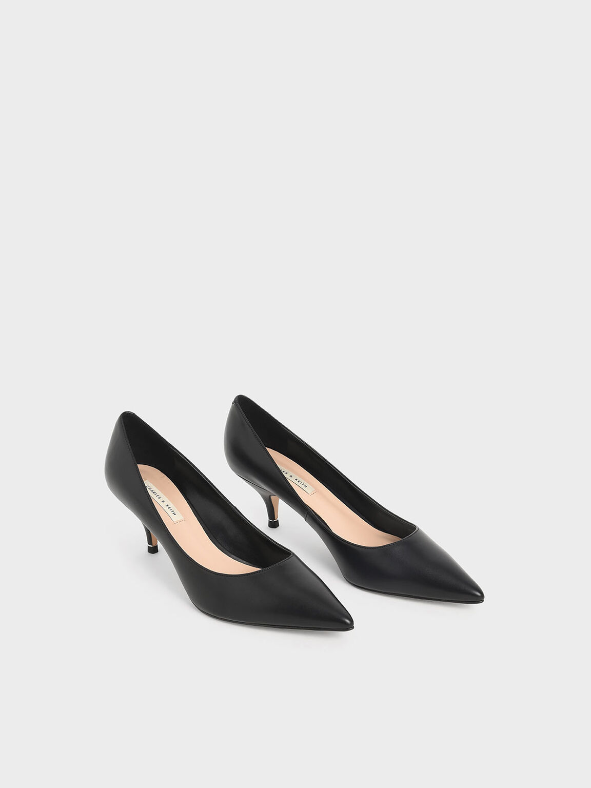 Classic Pointed Toe Pumps, Black, hi-res