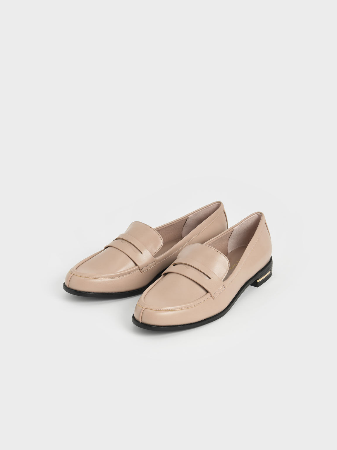 Classic Penny Loafers, Mauve, hi-res
