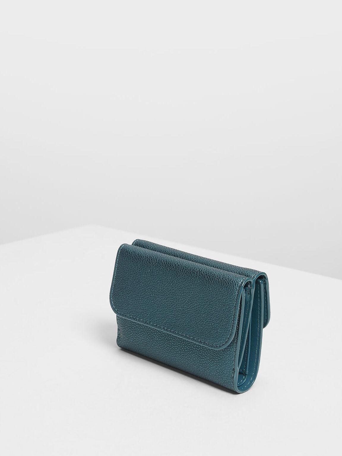 Classic Snap Button Wallet, Teal, hi-res