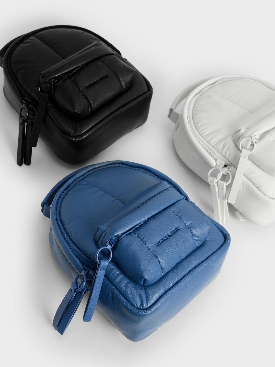 Puffy Backpack, Matte Black, hi-res
