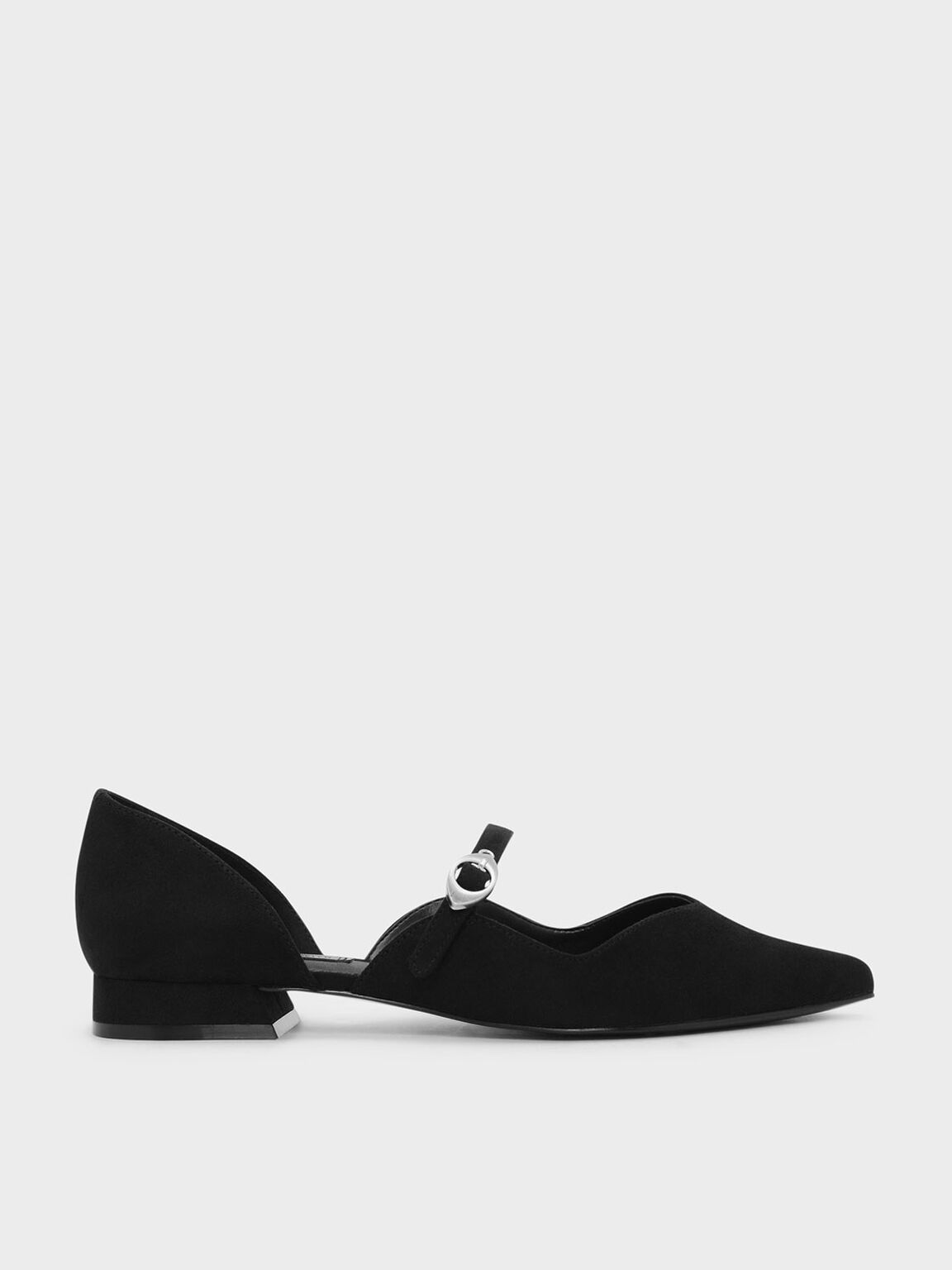 Pointed Mary Janes, Black, hi-res
