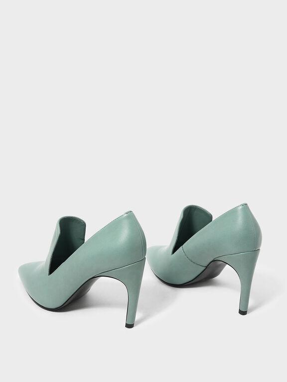 Extended Topline Heels, Green