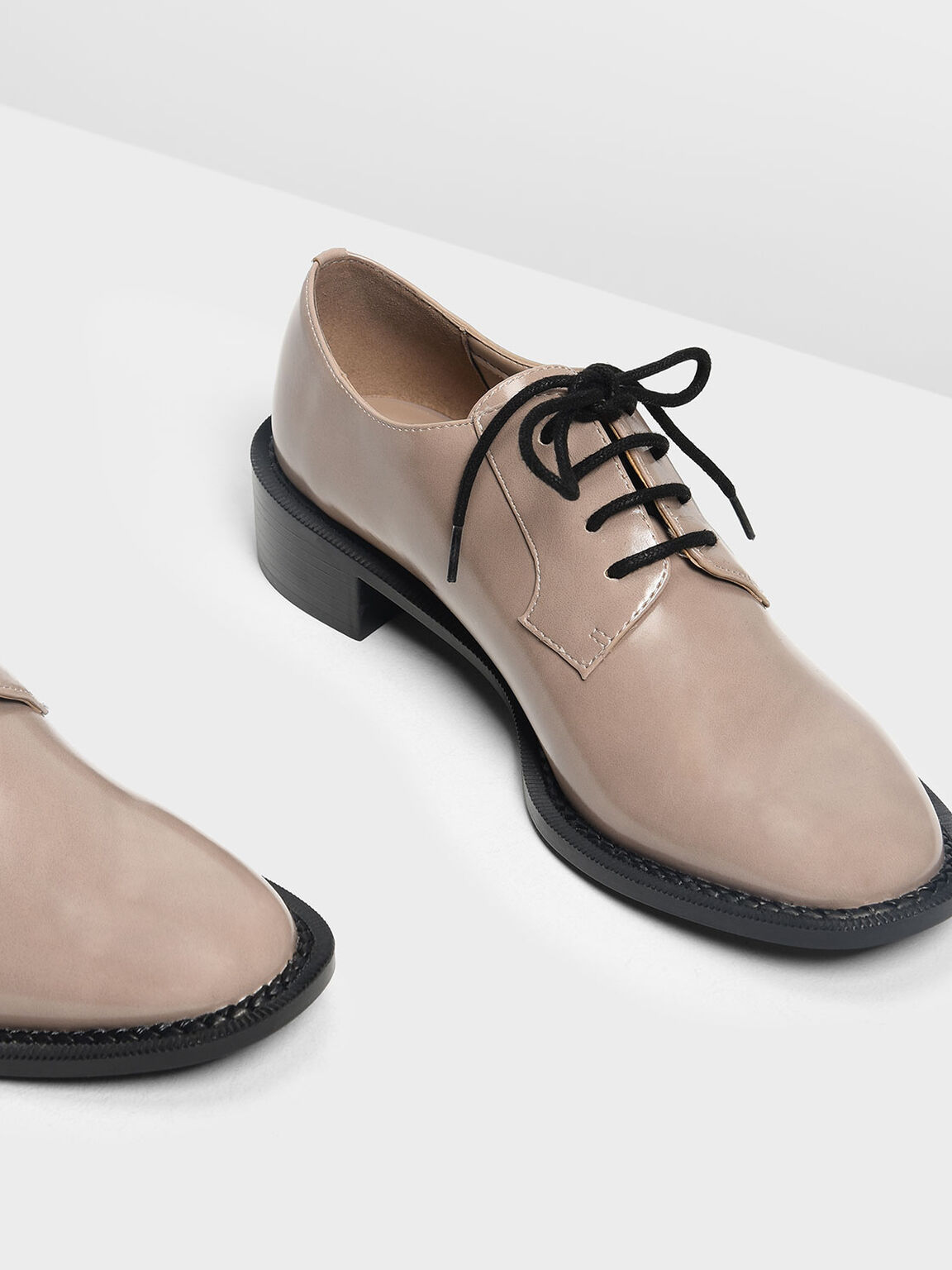 Classic Derby Shoes, Taupe, hi-res
