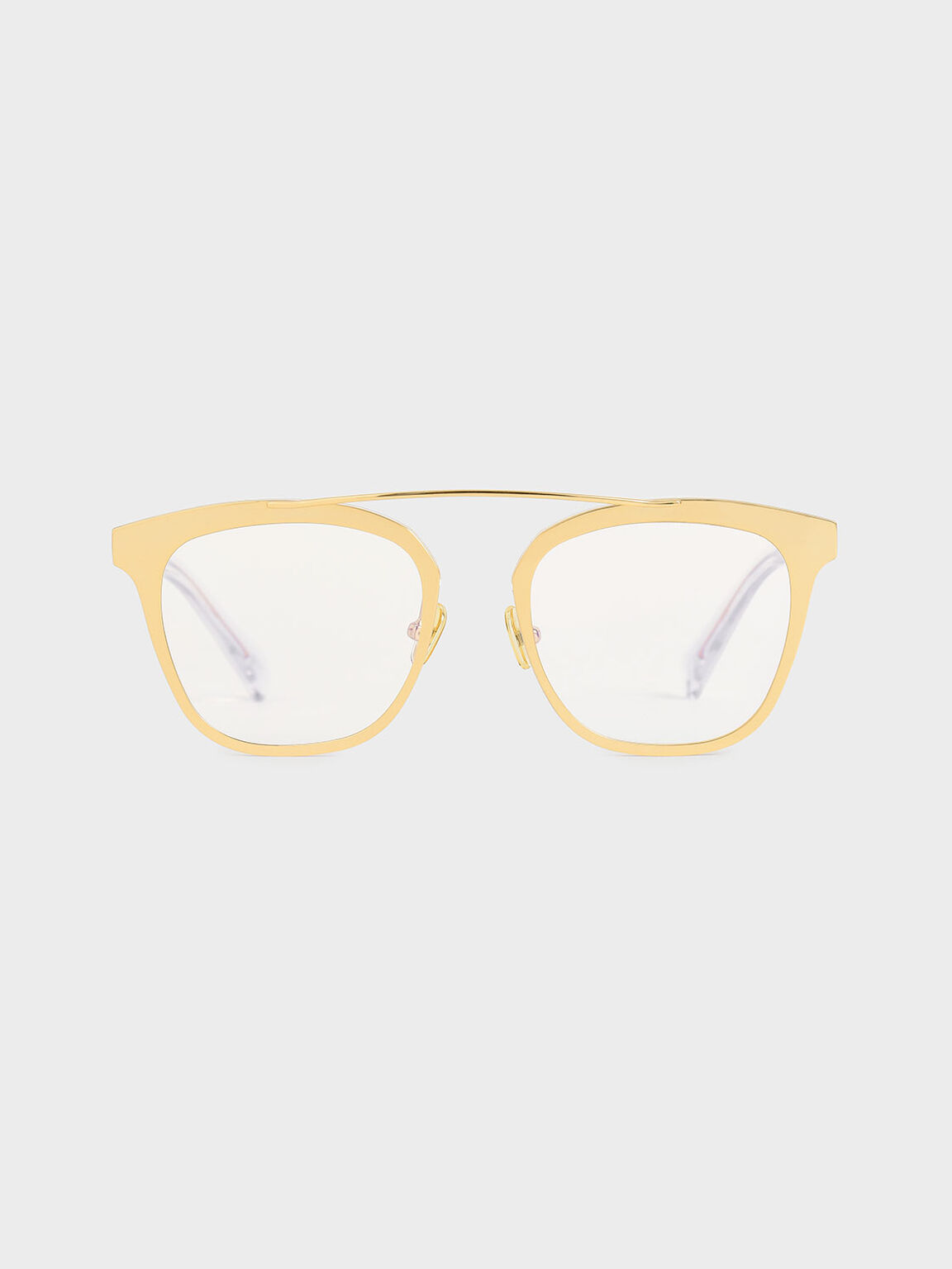 Metal Frame Sunglasses, Gold, hi-res
