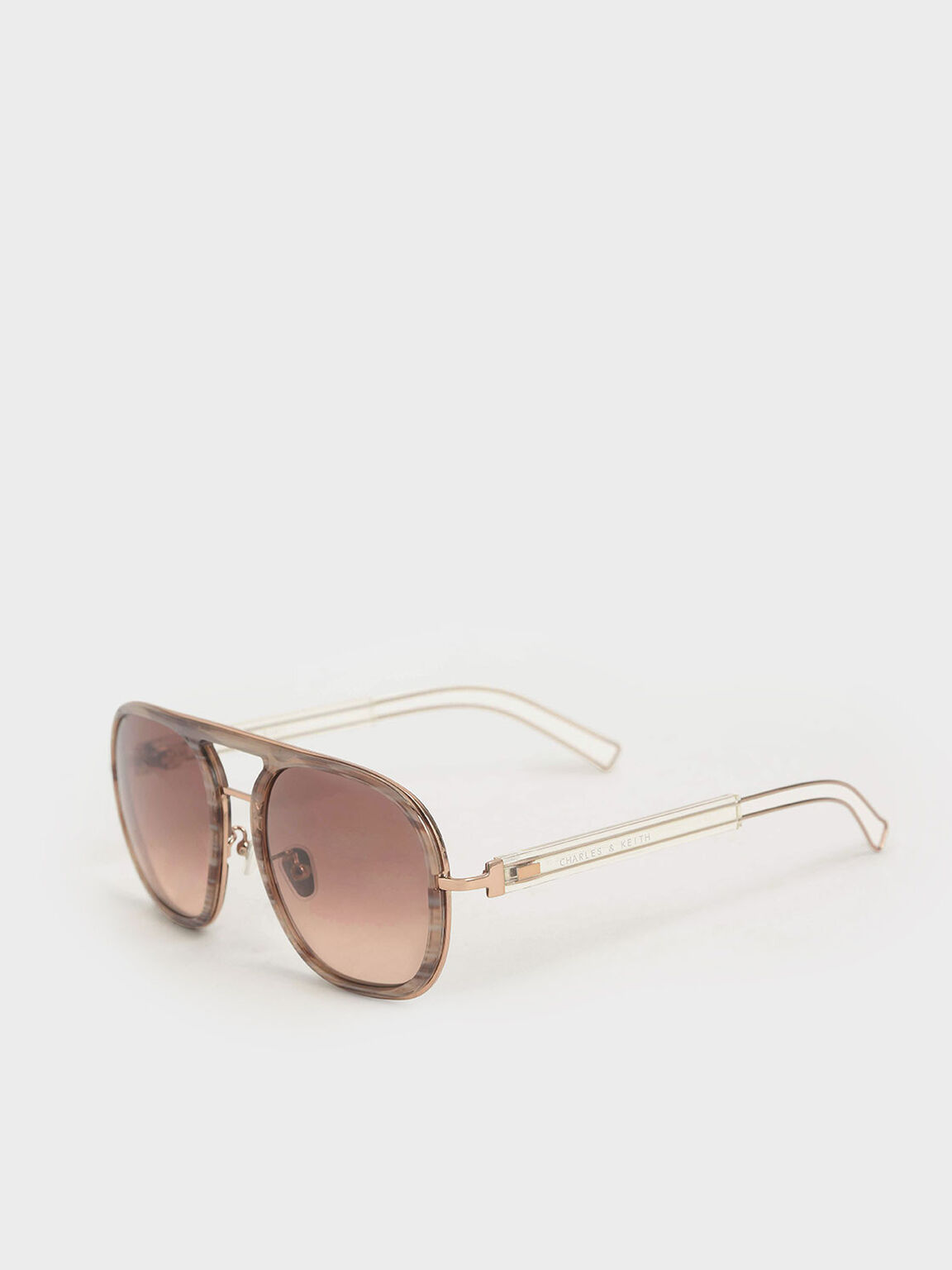 Double Bridge Sunglasses, Cream, hi-res