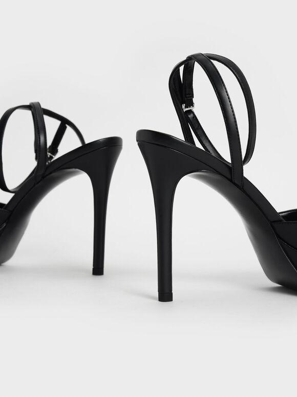 寶石繞踝高跟涼鞋, 黑色, hi-res