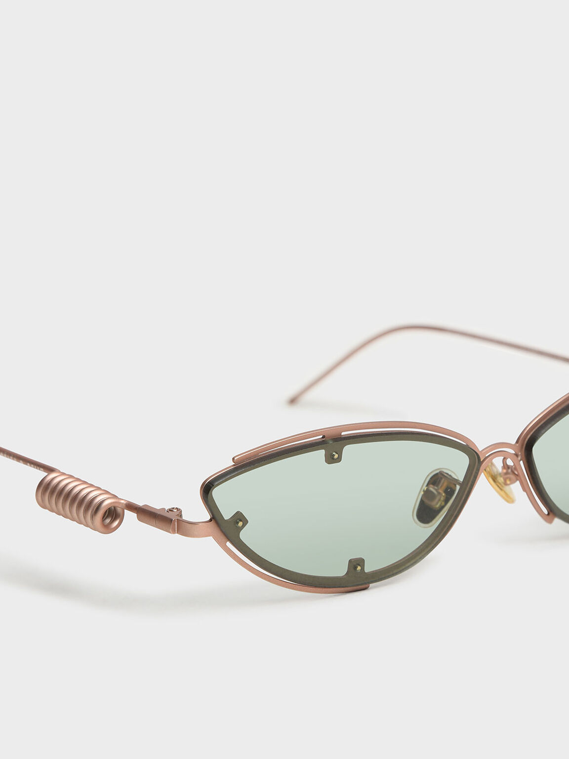 Double Frame Cat-Eye Sunglasses, Green, hi-res