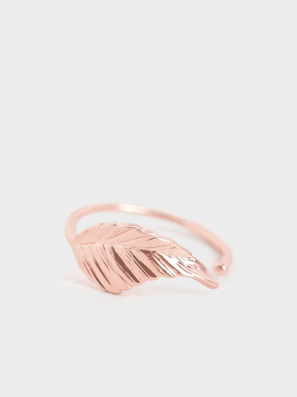 Leaf Band Ring, Rose Gold, hi-res