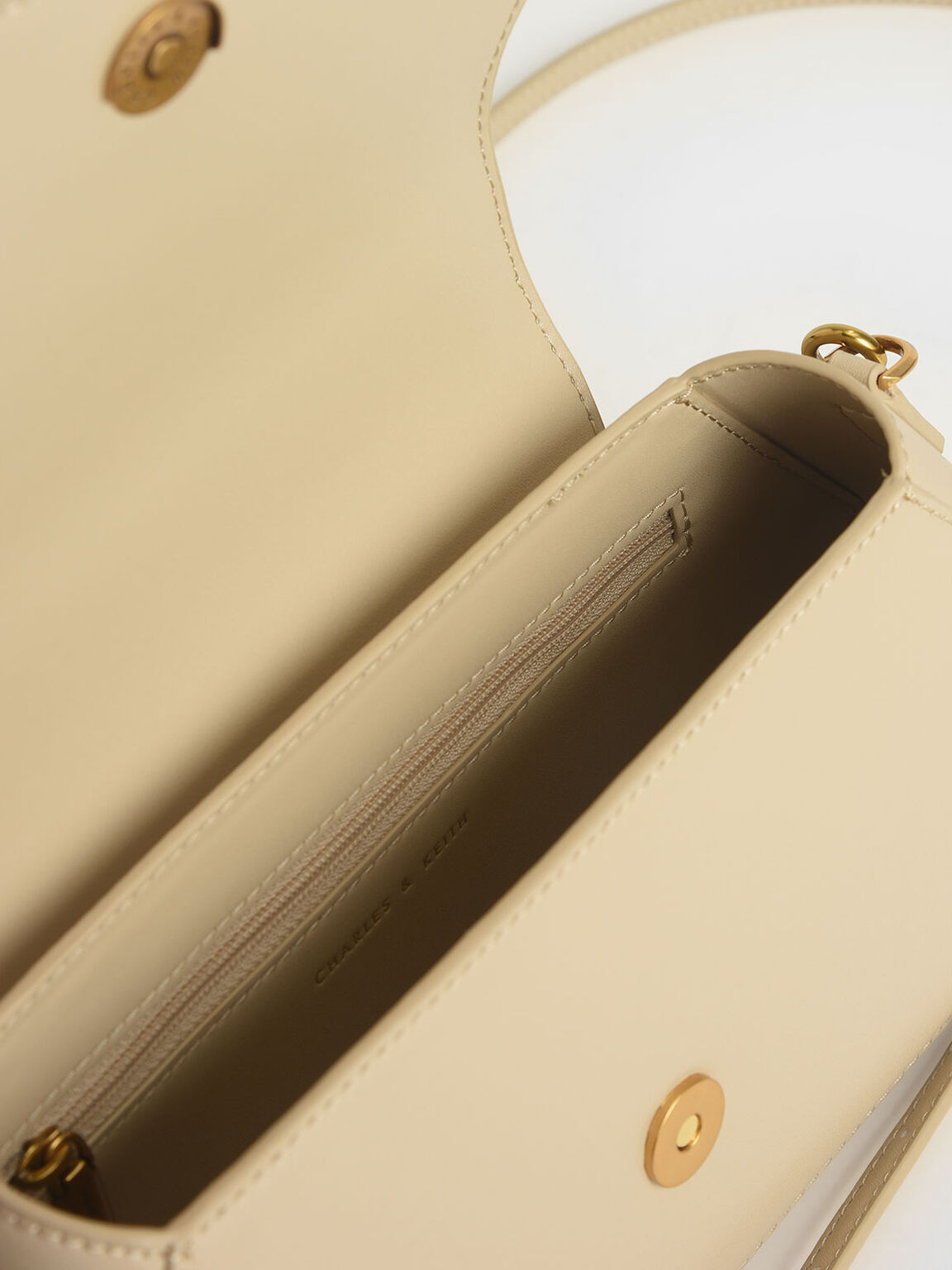 Top Handle Geometric Bag, Ivory, hi-res