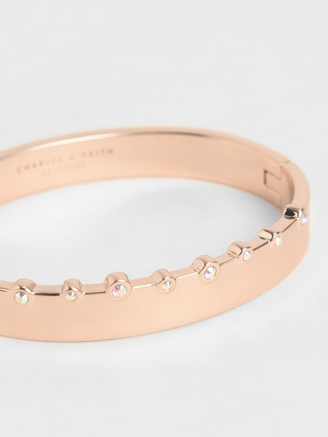 Swarovski® Crystal Studded Bracelet, Rose Gold, hi-res